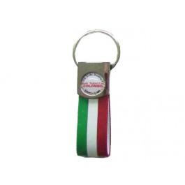 Portachiavi tricolore con etichetta resinata