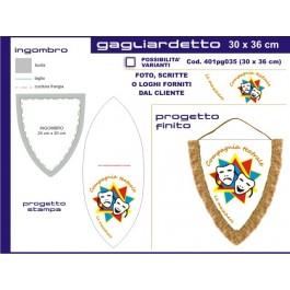 Gagliardetto Scudo Grande 30x36 cm