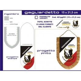Gagliardetto Scudo Piccolo 15x21,50 cm
