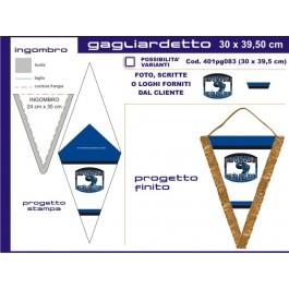 Gagliardetto Triangolare1 Grande 30x38cm