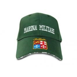 Cappello Marina verde ricamo visiera