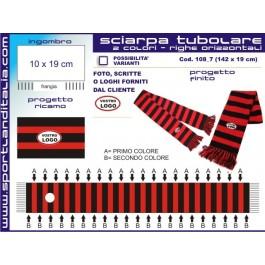 Progetto Sciarpa tubolare strisce orizzontali . 7