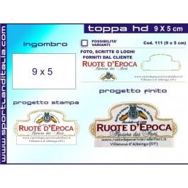 Progetto Toppa Ricamata HD 9 x 5 cm