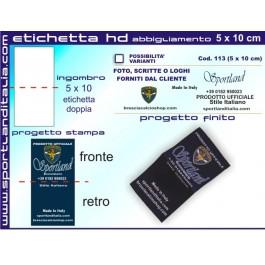 Progetto Etichetta Ricamata HD 6 x 4 cm