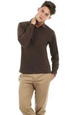 Polo maniche lunghe, 100% cotone