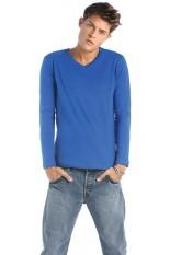 T-Shirt uomo collo a V maniche lunghe