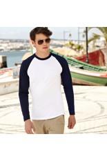 T-Shirt da uomo baseball maniche lunghe