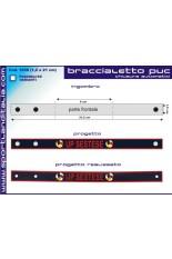 Braccialetto PVC chiusura bottone 1