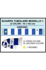 Progetto Sciarpa tubolare strisce orizzontali . 1
