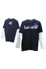 T-shirt Cotone Manica lunga Bicolore