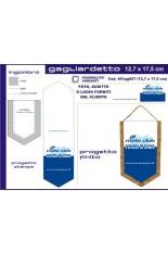 Gagliardetto Pentagonale Piccolo 12,7x17,50 cm