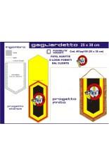 Gagliardetto Pentagonale Grande 25 x38 cm