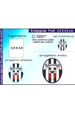 Progetto Toppa Ricamata HD 3,5 x 4,5 cm