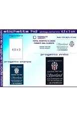 Progetto Etichetta Ricamata HD 4,5 x 3 cm