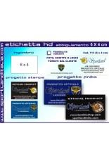 Progetto Etichetta Ricamata HD 6 cm x 4 cm