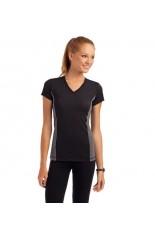 T-shirt Sport contrast a V