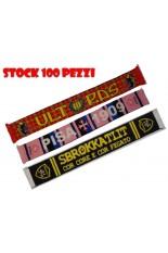 STOCK 100 Sciarpe tubolari LUX INTERAMENTE PERSONALIZZATE su 2 lati