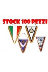 STOCK 100 Gagliardetti Triangolari PERSONALIZZATI piccoli