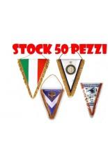 STOCK 50 Gagliardetti Triangolari PERSONALIZZATI grandi