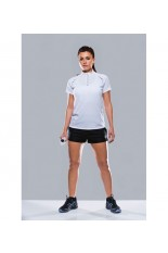 T-shirt collo zip donna Endurance