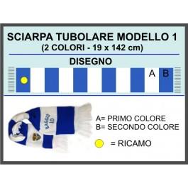 Tubular horizontal stripes Scarf project. 1