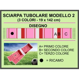 Tubular horizontal striped design. 2