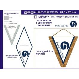 Medio1 20x27cm triangle pennant