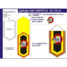 Big Pentagonal pennant 25 x 38 cm