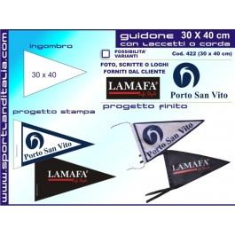Triangular pennant Printed 30 X 40 cm