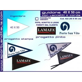 Triangular pennant Printed 40 X 50 cm