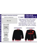 Turtleneck Sweatshirt design embroidery or printing