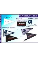 Triangular pennant 20 X 30 cm Print