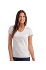 T-shirt a V donna organic
