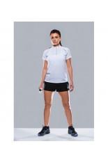T-shirt collo zip donna Endurance